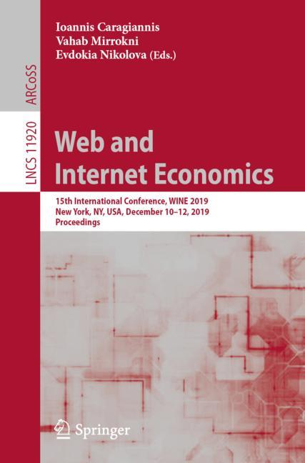 Cover of 'Web and Internet Economics'