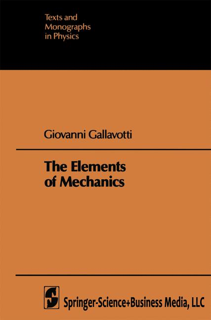 Cover of 'The Elements of Mechanics'