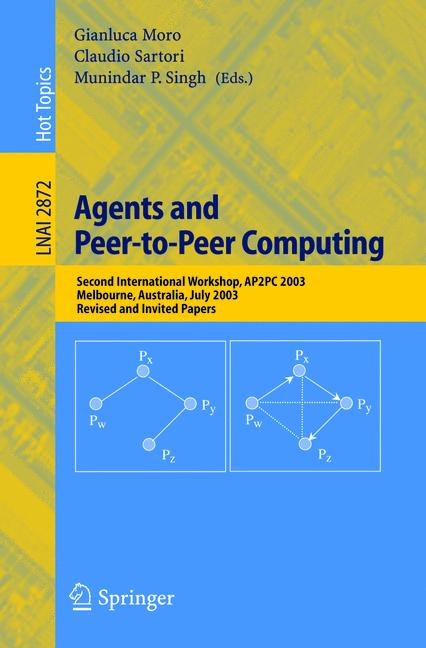 Cover of 'Agents and Peer-to-Peer Computing'