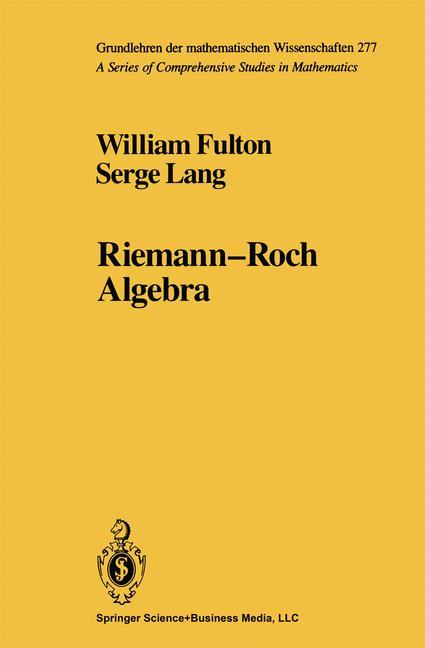 Cover of 'Riemann-Roch Algebra'