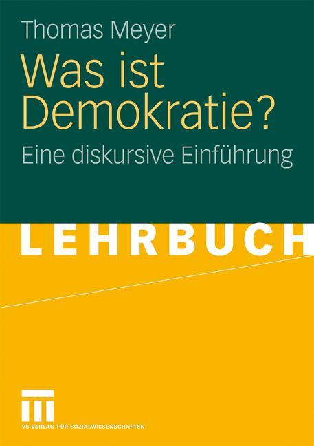 Cover of 'Was ist Demokratie?'
