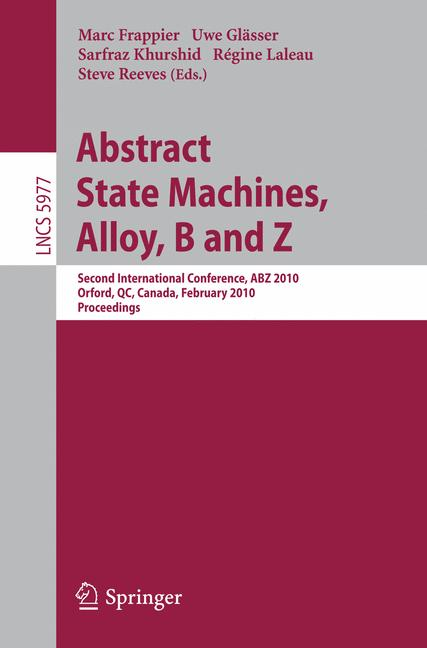 Cover of 'Abstract State Machines, Alloy, B and Z'