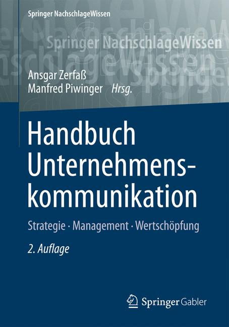 Cover of 'Handbuch Unternehmenskommunikation'