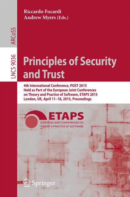 Cover of 'Principles of Security and Trust'