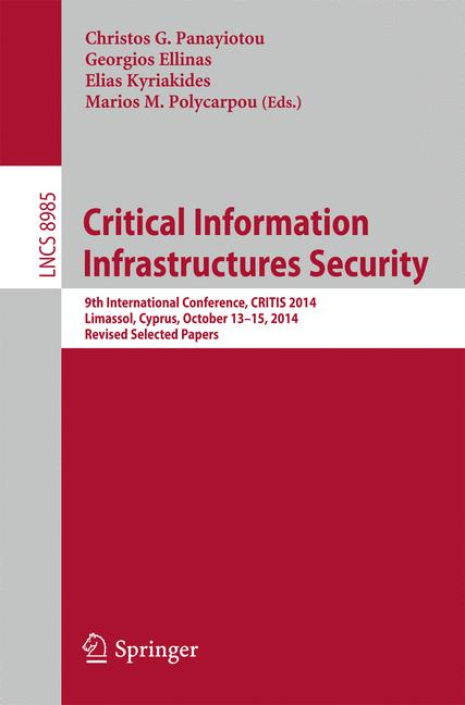 Cover of 'Critical Information Infrastructures Security'