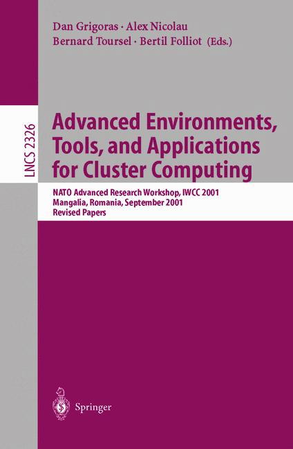 Cover of 'Advanced Environments, Tools, and Applications for Cluster Computing'