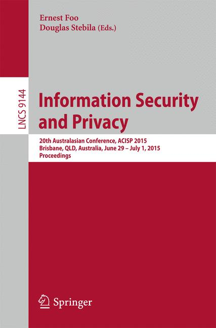 Cover of 'Information Security and Privacy'