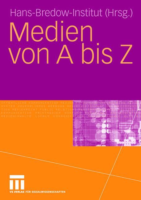 Cover of 'Medien von A biz Z'