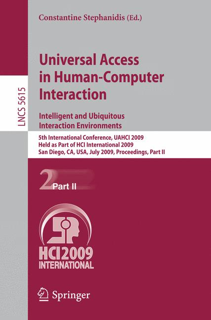 Cover of 'Universal Access in Human-Computer Interaction. Intelligent and Ubiquitous Interaction Environments'