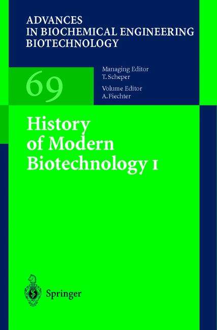 Cover of 'History of Modern Biotechnology I'