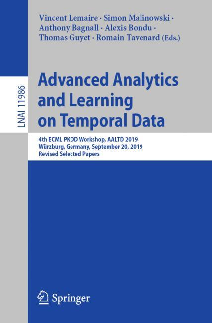 Cover of 'Advanced Analytics and Learning on Temporal Data'