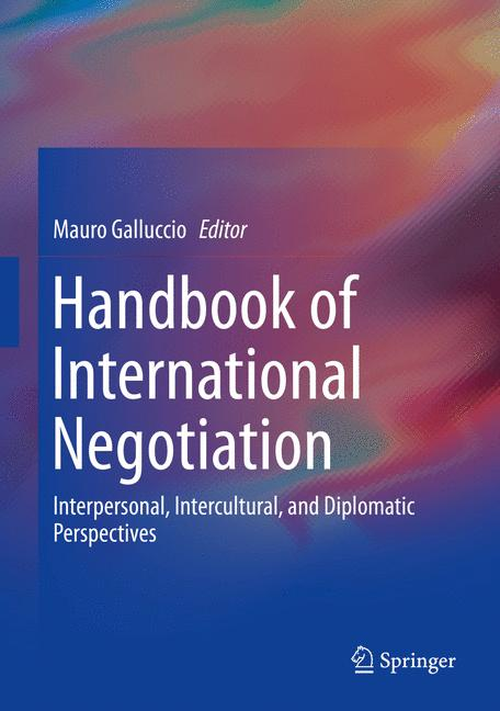 Cover of 'Handbook of International Negotiation'