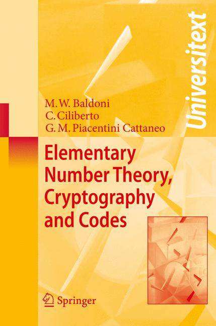 Cover of 'Elementary Number Theory, Cryptography and Codes'