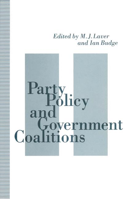 Cover of 'Party Policy and Government Coalitions'