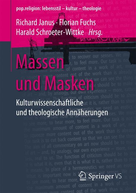 Cover of 'Massen und Masken'