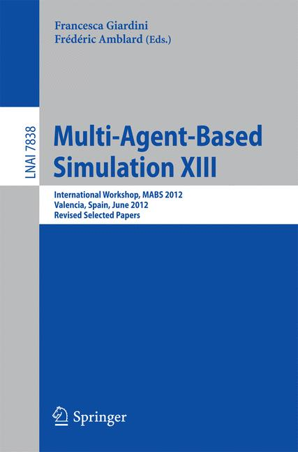 Cover of 'Multi-Agent-Based Simulation XIII'