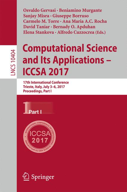 Cover of 'Computational Science and Its Applications – ICCSA 2017'