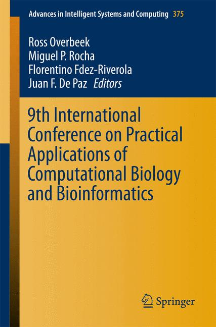 Cover of '9th International Conference on Practical Applications of Computational Biology and Bioinformatics'