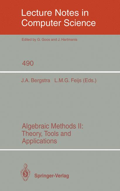 Cover of 'Algebraic Methods II: Theory, Tools and Applications'