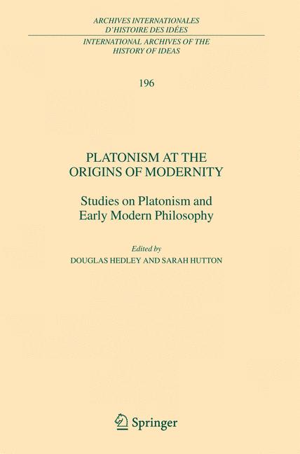 Cover of 'Platonism at the Origins of Modernity'
