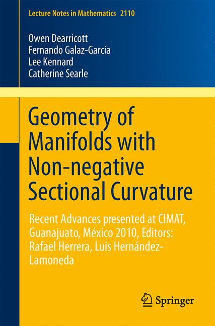 Cover of 'Geometry of Manifolds with Non-negative Sectional Curvature'
