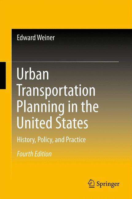 Cover of 'Urban Transportation Planning in the United States'