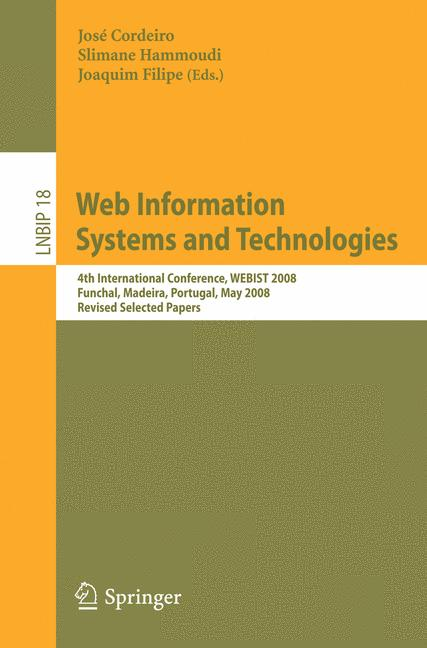 Cover of 'Web Information Systems and Technologies'