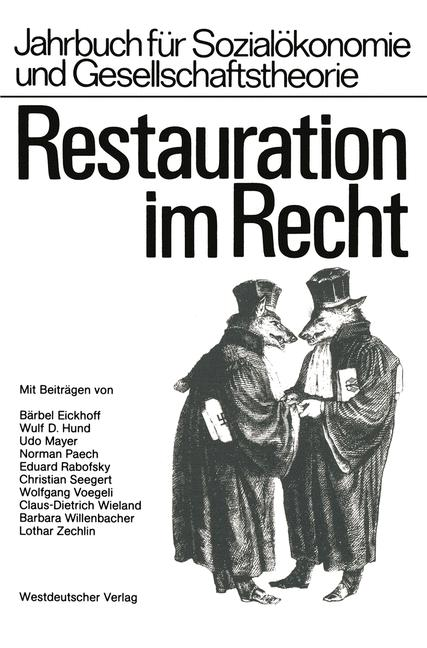 Cover of 'Restauration im Recht'