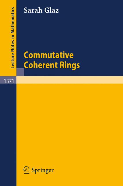 Cover of 'Commutative Coherent Rings'
