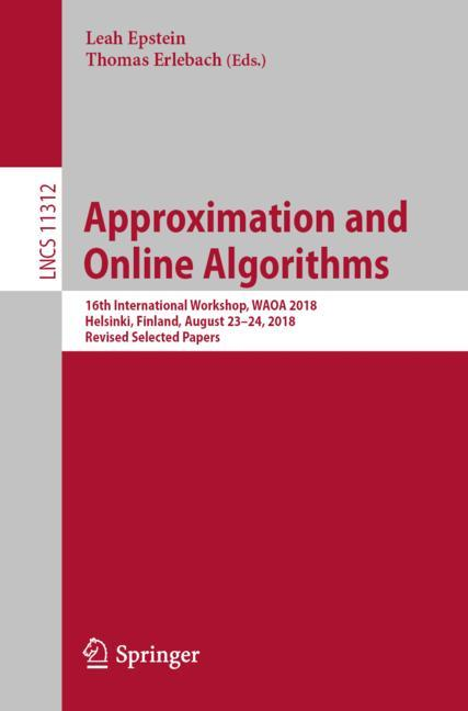 Cover of 'Approximation and Online Algorithms'