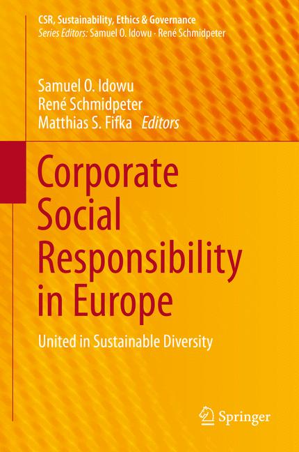 Cover of 'Corporate Social Responsibility in Europe'