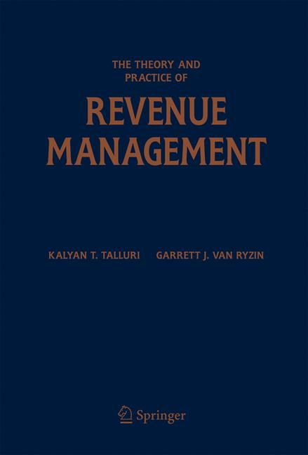Cover of 'The Theory and Practice of Revenue Management'