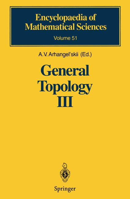 Cover of 'General Topology III'