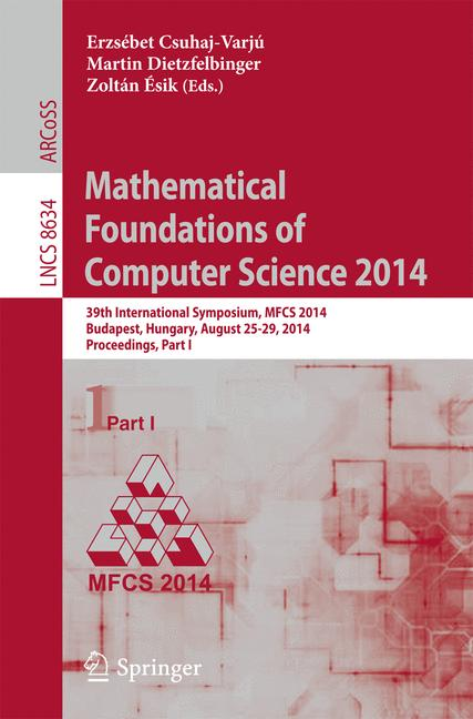 Cover of 'Mathematical Foundations of Computer Science 2014'