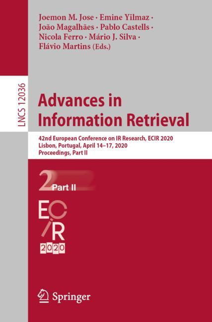 Cover of 'Advances in Information Retrieval'