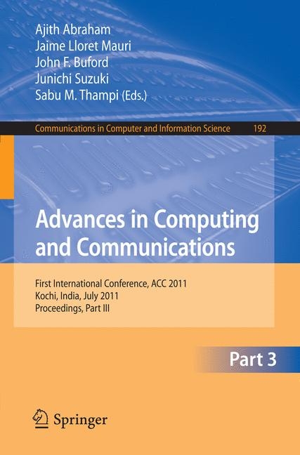 Cover of 'Advances in Computing and Communications'