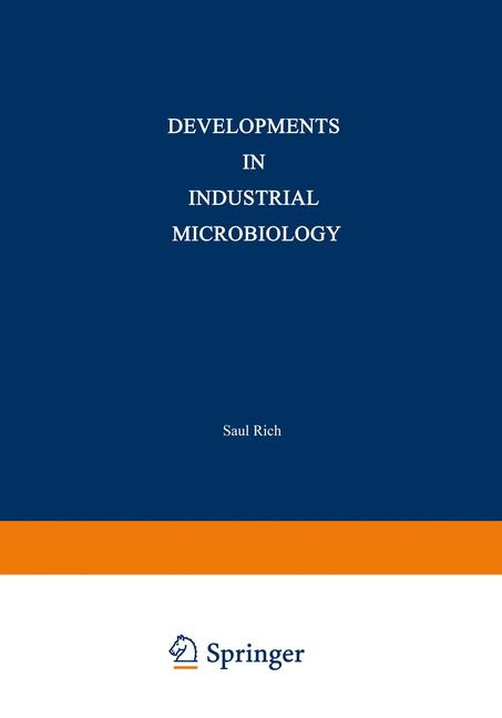 Cover of 'Developments in Industrial Microbiology'