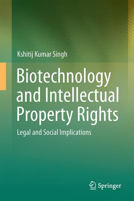 Cover of 'Biotechnology and Intellectual Property Rights'