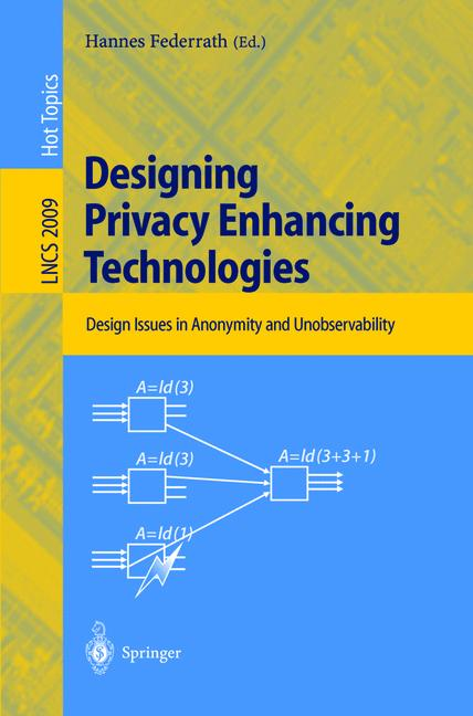 Cover of 'Designing Privacy Enhancing Technologies'