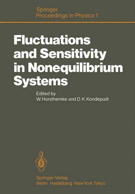 Cover of 'Fluctuations and Sensitivity in Nonequilibrium Systems'