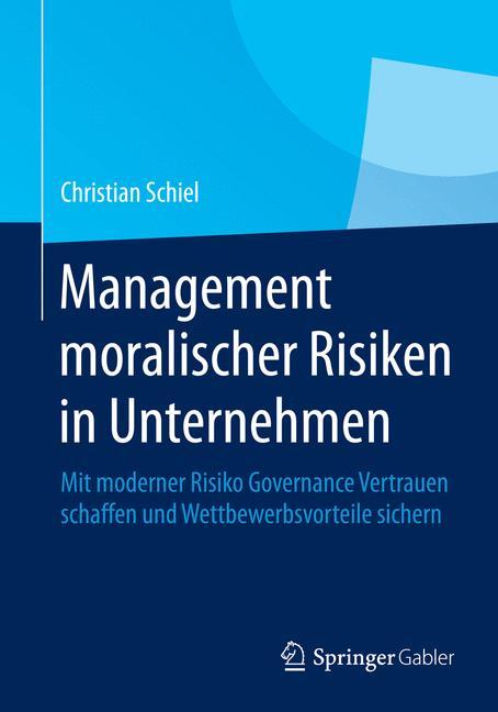 Cover of 'Management moralischer Risiken in Unternehmen'