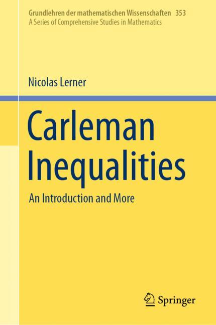 Cover of 'Carleman Inequalities'