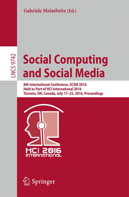 Cover of 'Social Computing and Social Media'