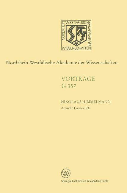 Cover of 'Attische Grabreliefs'