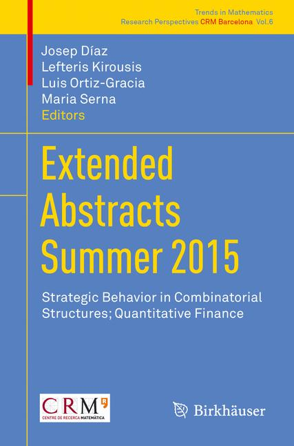 Cover of 'Extended Abstracts Summer 2015'