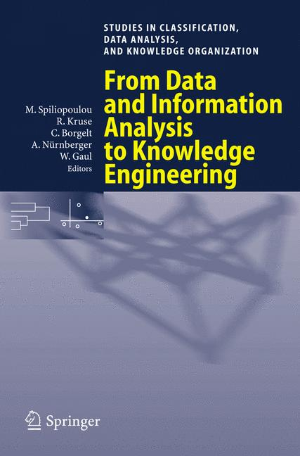 Cover of 'From Data and Information Analysis to Knowledge Engineering'