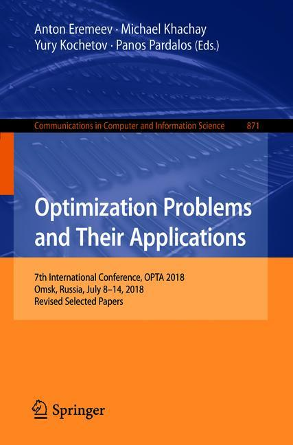 Cover of 'Optimization Problems and Their Applications'