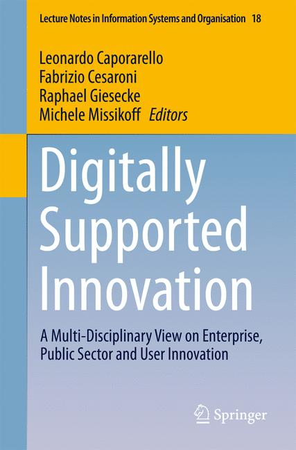 Cover of 'Digitally Supported Innovation'