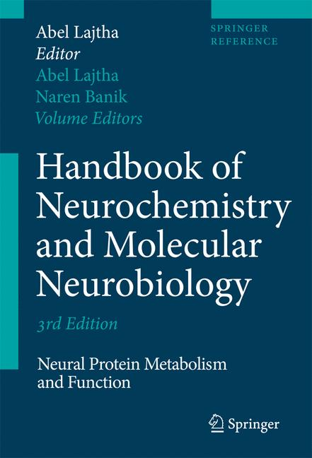 Cover of 'Handbook of Neurochemistry and Molecular Neurobiology'