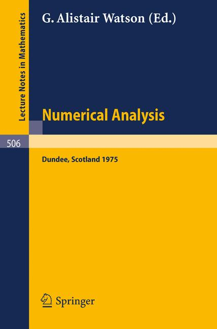 Cover of 'Numerical Analysis'